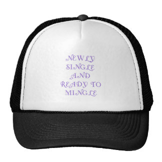 Newly Single and Ready to Mingle - 3 - Violet Trucker Hats