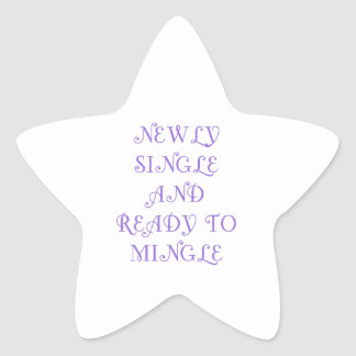 Newly Single and Ready to Mingle - 3 - Violet Stickers