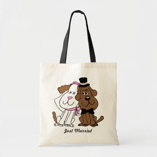 Newlywed Dogs Personalized Tote Bag