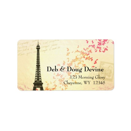 Newlywed Eiffel Tower Designer labels
