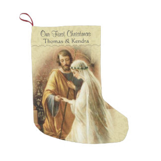 Newlywed First Christmas Married Small Christmas Stocking