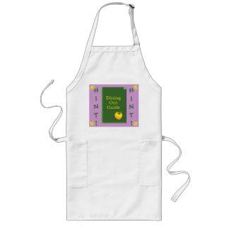 Newlywed gift, bridal shower gift long apron