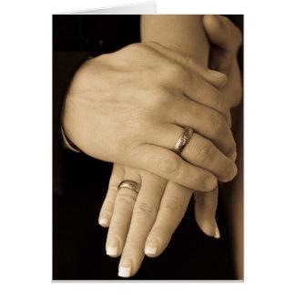 Newlywed Hands Card