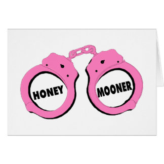 Newlywed Honeymoon Wedding Handcuffs Card