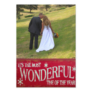 Newlywed Most Wonderful Time Template Christmas