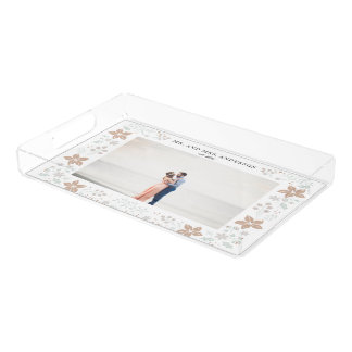 Newlywed Photo Collage Serving Tray