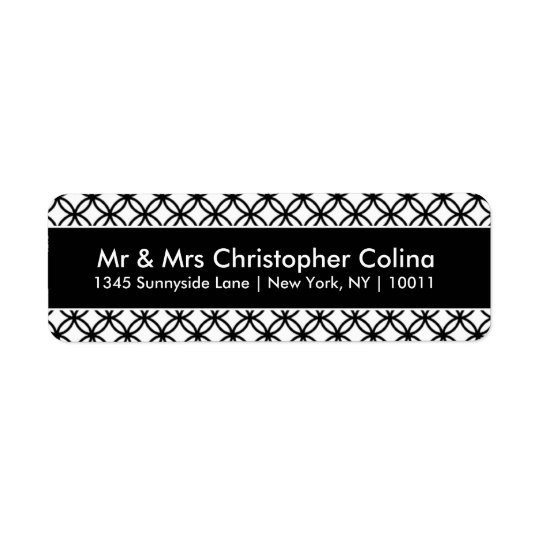 Newlywed Return Address Labels