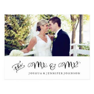 Newlywed Thank You Notecard | Photo Postcard