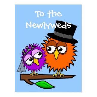 Newlywed Tweets Postcard