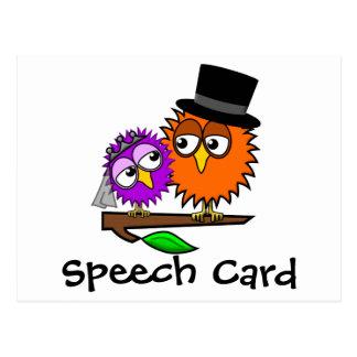 Newlywed Tweets Speech Card Postcard