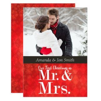 Newlywed's First Christmas Photo Card