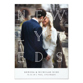 Newlyweds in White | Wedding Announcement