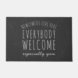 Newlyweds Live Here Everybody Welcome Doormat