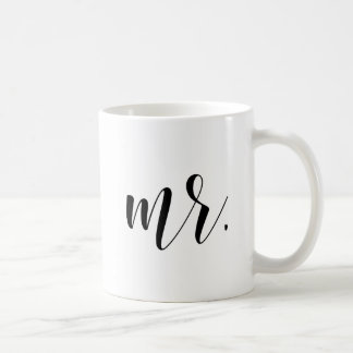 Newlyweds Mr. Modern Calligraphy   Typography Mug