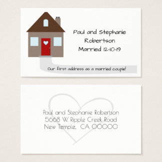 Newlyweds New Home Business Card