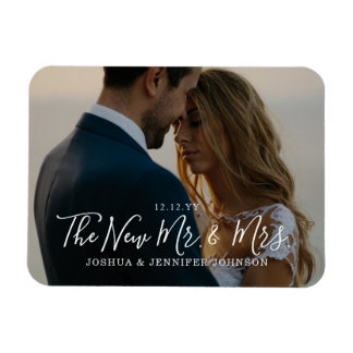 Newlyweds Photo Announcement or Thank You Magnet