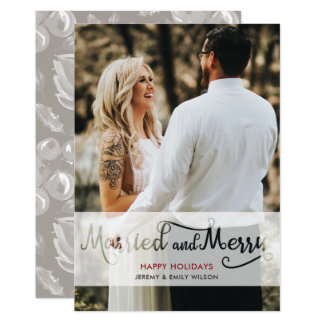 Newlyweds Photo Holiday Card