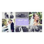 Newlyweds Thank You Photo Card Lavender Purple