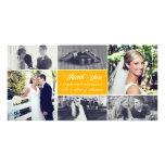Newlyweds Thank You Photo Card Sunflower Yellow