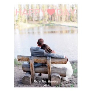 Newlyweds Valentine's Day Card Photo Post Card
