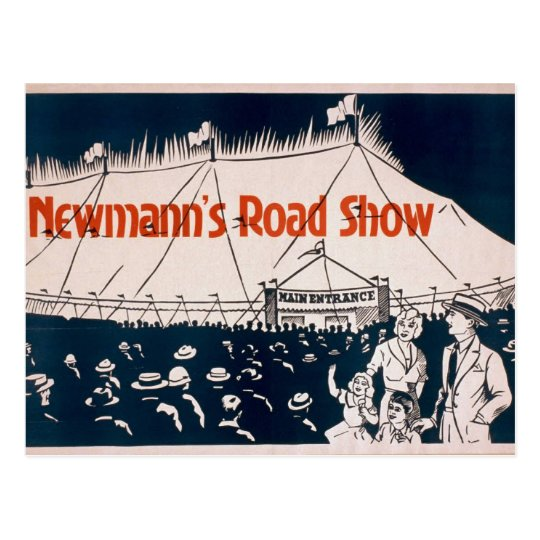 NewMann, 'Road Show' Retro Theatre Postcard