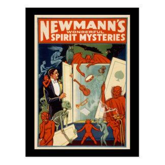 Newmann's wonderful spirit mysteries postcard