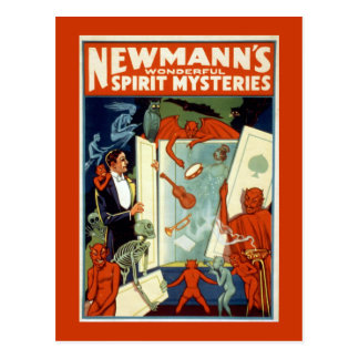 """Newmann's Wonderful Spirit Mysteries"" Postcard"