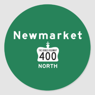 Newmarket 400 classic round sticker