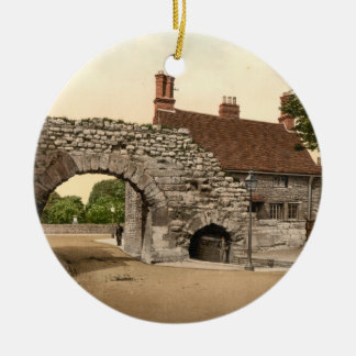 Newport Arch, Lincoln City, Lincolnshire, England Ceramic Ornament