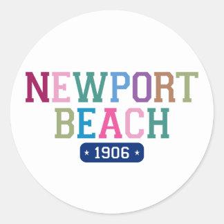 Newport Beach 1906 Round Sticker