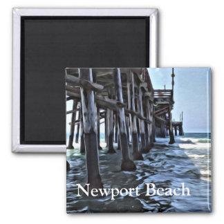 Newport Beach - 2 Inch Square Magnet