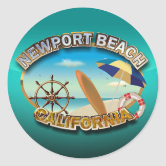 Newport Beach, California Round Sticker
