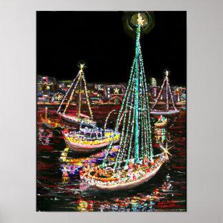 Newport Beach Christmas Boat Parade Poster