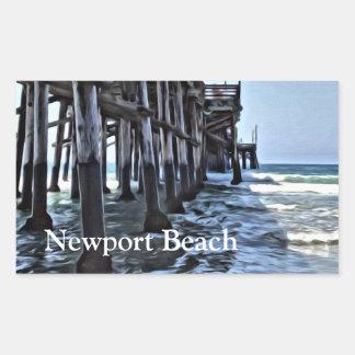 Newport Beach - Rectangle Stickers, Glossy