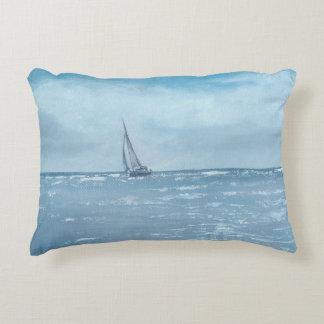 Newport Beach Sailing Decorative Pillow