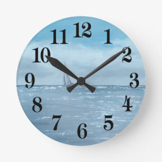 Newport Beach Sailing Round Clock