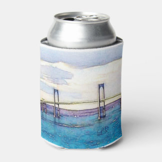 Newport Bridge monogram can cooler with