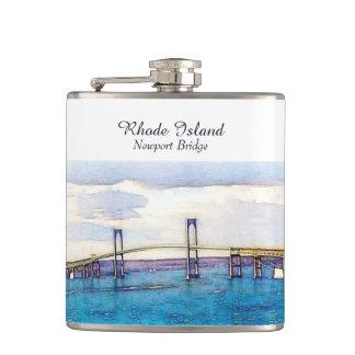 Newport Bridge Rhode Island flask