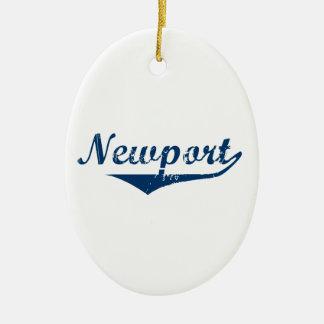 Newport Ceramic Oval Ornament