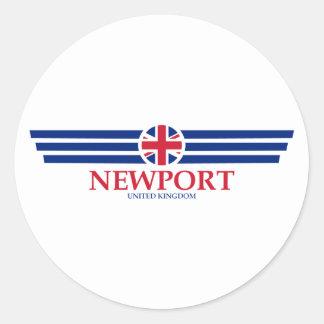 Newport Classic Round Sticker