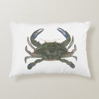 Newport Collection Blue Crab Decorative Pillow