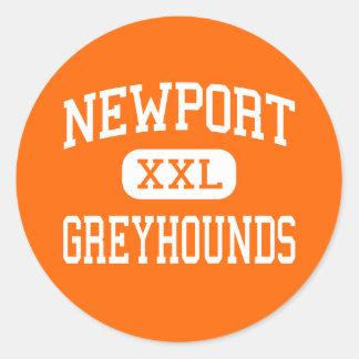 Newport - Greyhounds - High - Newport Arkansas Round Sticker