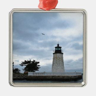 Newport Harbour Lighthouse Metal Ornament