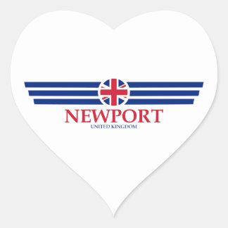 Newport Heart Sticker