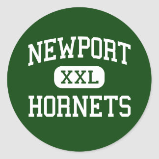 Newport - Hornets - Junior - Newport Maine Round Sticker