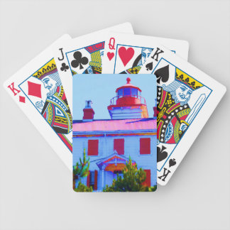 Newport Lighthouse at Yaquina Bay Bicycle Playing Cards