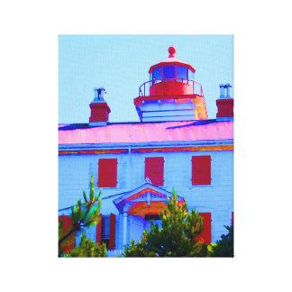 Newport Lighthouse Canvas Print