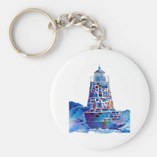 Newport Lighthouse Gifts Basic Round Button Keychain