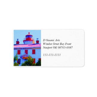Newport Lighthouse Label