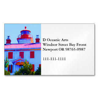 Newport Lighthouse Magnetic Business Card